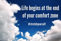 StretchYourself quotes / FACT:  You don't grow in life unless you stretch yourself.  PROBLEM:  Stretching means you have to deal with discomfort, the pain of the unknown, and working with new emotional and mental muscle groups.  FACT:  Most people are (1) fearful of the unknown (2) comfortable with putting in the least effort (3) not willing to put up with short term gain for long term pleasure.    FACT:  NOT YOU RIGHT!?! This board is designed to inspire and set soul fires to achieve your dreams
