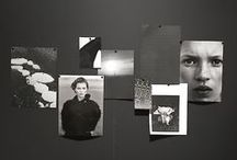 INTERIOR | WALL DECOR | STORYBOARDS | MOODBOARDS / Create a different kind of wall at home by using posters, photo art in black and white. Make moodboards on your wall. Inspiration for your wall / stotyboards / moodboards