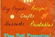 "Halloween Recipes and Crafts Posts / Post your Halloween Desserts, Recipes, Crafts, DIY Projects, and Printables for a Chance to be in a Bulk Post (Free) Which will be Featured on DIY Draw and Pinned. I Will Choose Some Posts and E-mail You for Pictures :)! If you get Chosen You Agree to Post a Facebook or a Message on your site Linking to ""Halloween Recipes and Crafts Posts""."