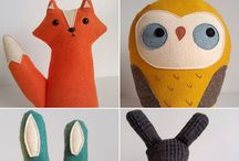 s o f t i e s / hand made stuffed dolls and animals  / by alice's avenues of artistry