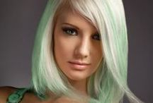 Vivids, Brights and Pastels..Not your mothers hair color / This shows the cutting edge of hair color