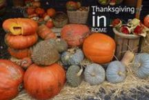 Halloween & Thanksgiving in Rome / I've joined Halloween & Thanksgiving together as they share Autumn & pumpkins! Check out this board for places to buy costumes and Halloween events in Rome, plus recipes.
