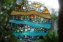 Art glass, leaded, stained glass real & faux, recycled