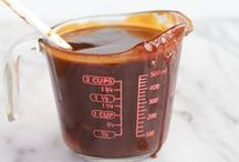 """Food: Sauces / """"An ounce of sauce covers a multitude of sins."""" Anthony Bourdain"""