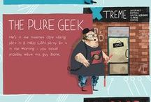 Nerdy Dublin / Illustrator Steve McCarthy introduces you to eight types of geeks you'll meet in Dublin, and where you'll find them... / by Visit Dublin