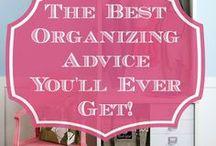 Organized / Organizing tips