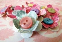 Paper embellishments for cards and scrapbooking / Cute and fun handmade embellishments to add to your creative pages and cards and gift tags