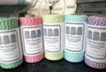 Ribbons & Twine / Gorgeous samples of ribbons, trims, bakers twine to use for any and all crafty projects, parties, wrapping gifts, packaging.