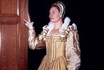 SCA - Tudor / Elizabethan SCA Persona Inspiration / Rachel Edwards is my Late Tudor / Early Elizabethan SCA persona. Her father was a Flemish weaver who moved to the English village of Arondelle under the rule of King Henry. He prospered and became a fairly wealthy artisan. When Rachel came of marriageable age she was sent to the low countries to reinforce her father's trading lines and marry a Belgian fabric merchant. That's all I've got so far but creating an alternate persona is so much fun!