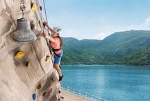 Onboard Cruise Activities / Fun cruise ship activities you can enjoy during your vacation including live entertainment, ziplining, water slides, and much more!