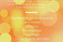 """Sophie's Gorgeous Mother's Day Picks! / Giveaways & Gift Suggestions! As part of my """"7 Days of Gorgeous Moms"""" celebration, I've selected fabulous non-toxic, eco-friendly and cruelty-free products that not only make for great gifts, but will have mom feeling Gorgeous For Good!  Enter for your chance to win these amazing products that are good for you and the environment!  Order your copy of Gorgeous For Good here: http://amzn.to/1alBeUl / by Sophie Uliano"""