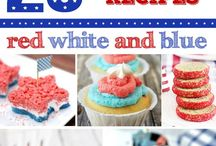 Patriotic Recipes / Patriotic recipes featuring red, white and blue. Great for 4th of July, Memorial Day or any holiday.  http://www.USAfreedomKids.com
