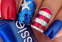 Patriotic American Flag Nail Art / Decorate your nails in red, white and blue. We love America, so let's celebrate with stars & stripes.  Best patriotic nail art ideas.  Website: http://www.usafreedomkids.com/home2.html