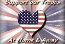 Support our Troops / USA Freedom Kids love America and support our military and troops.  Salute to the troops. Great inspirational photos, quotes and merchandise.