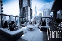 Vertigo Sky Lounge / A year-round, indoor/outdoor lounge in Chicago, live DJs nightly, an outdoor fire-pit for added ambiance, and in the colder Chicago winter months - the city's only ice bar. VSL is the ideal spot for one-of-a-kind special events or to turn it up for a night out with friends.  / by dana hotel and spa