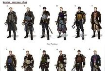 Concept art - Characters / Females, males characters.