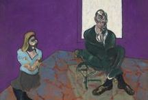 Francis Bacon / Francis Bacon (28 October 1909 – 28 April 1992) was an Irish-born British figurative painter known for his bold, graphic and emotionally raw imagery.  / by Soozle Pip