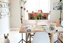 Workspaces design / Interior design in worskpace, art studio