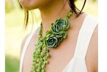 Flower Fashion / Jewelry clothes and shoes made from fresh flowers and plants!!