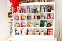 Craft Rooms  / Craft Rooms and Creative Spaces + organizing craft supplies! / by Linda {Craftaholics Anonymous®}