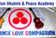 Ukulele & Peace Network NZ / Wellington Ukulele & Peace Network NZ dream of ukuleles in homes, schools and workplaces. We offer Ukulele Lessons for absolute & intermediate beginners. We also facilitate workshop sessions on Living Empathy & Ukuleles For Peace NZ ♥ http://www.meetup.com/Wellington-Ukulele-Peace-Network-NZ/ / by Sophia Tara