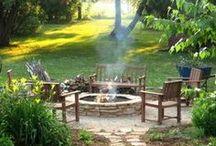 Backyard + Summer fun / Backyard parties // Backyard landscape // Backyard design // Summer parties // Summer games