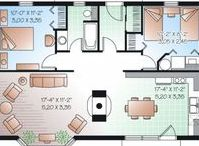 HOUSE PLANS / I like to build these in the Sims.