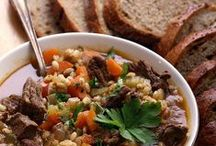 cozy weather soups and stews...