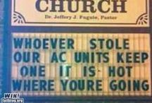 Humor......Church Signs / by Cathy Oliver