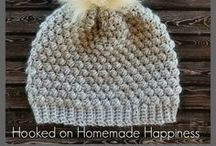 handmade mitts, scarves and hats...