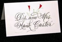 Calligraphy......Escort and Place Cards / by Cathy Oliver