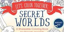 SECRET WORLDS / Fairies in the woods, Borrowers under the stairs, & coloring fun for you & someone you love in LET'S COLOR TOGETHER: SECRET WORLDS: A Shaeable Coloring Book for Parents and Kids http://buff.ly/2fsKSMC