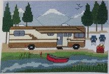 Cross Stitch and other Stitches / Cross Stitch, Camp Cross Stitch and other cute stitchy projects!