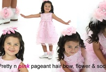 Pageant Accessories / Custom Pageant Glitzy Hair Bows, Headbands & Socks. http://topnotchboutiqueaccessories.com/shop/index.php?cPath=16 / by Top Notch Boutique Accessories, Inc.