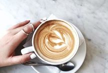 """Coffee + Tea / """"What goes best with a cup of coffee? Another cup."""" – Henry Rollins"""