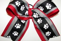 College Cheer / College Team Spirit. Football, Softball, Volleyball, Sports Teams / by Top Notch Boutique Accessories, Inc.