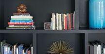 Shelf Styling + Bookcases