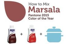 Marsala, Pantone Color of the Year / Pantone's color of the year for 2015 is Marsala. You can recreate it with equal parts Scarlet and Cocoa Brown Rit Dye.  / by Rit Dye
