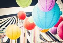 Colourful Wedding ideas / Ideas for planning a fun and colourful day with fun details.
