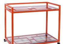 Bar Carts / Bar carts are a huge trend these days. Whether new or vintage, we all can use one!