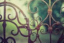 Gardens:   Gates  Fences  Ornament / Whether antique or new, rusted or painted, garden ornaments add that special touch!