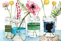 Mason Jars / So many uses for mason jars! I love the country look centerpieces with flowers...