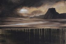 Edge of Tomorrow / Edge of Tomorrow - Landscape series by Julian Hindson. Acrylic on canvas
