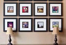 Na parede / Quadros, fotos, texturas