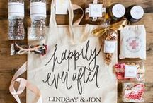 wedding {wedding party gifts} / Treat your wedding party and out of town visitors.  Show them some love.
