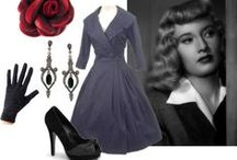 Film Noir Femme Fatale Looks / Inspirations for capturing the look of dangerous dames and dolls of film noir.
