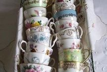 TeaTime / Let's Have a Tea Party and Lovely Tea Pots and Accessories Friends Gather,  Afternoon Soiree Party, Table Decor