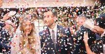 Wedding Confetti Ideas / Some of the most amazing, spontaneous, photogenic moments at a wedding happen as the bride and groom exit their ceremony in a flurry of confetti. More than just a fun moment for guests to toss confetti in the air, the tradition of the confetti toss actually originates from Italy when throwing petals or rice at the happy couple was to done with the aim of bringing prosperity and fertility.