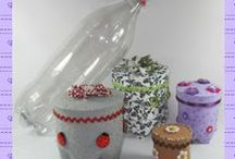 Plastic Bottle Crafts / by Sherron Heidlage