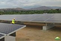 Landfill Solutions / RBI Solar's landfill solar racking systems are non-penetrating and light weight.